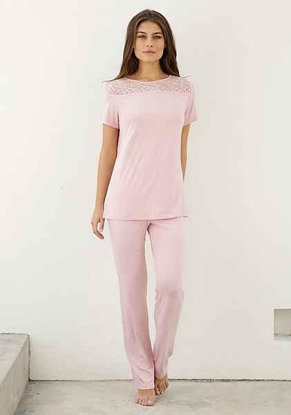 Mit Opal Pink Pyjama Spitzeneinsatz Triumph qpzVSMUG