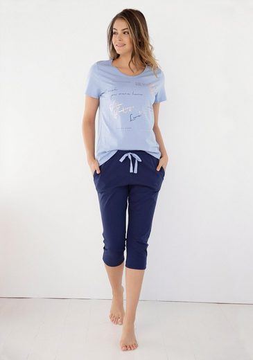 Triumph Capri-Pyjama mit Folienprint
