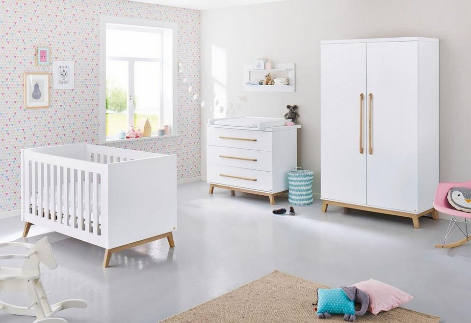 pinolino babyzimmer set 3 tlg kinderzimmer riva breit. Black Bedroom Furniture Sets. Home Design Ideas