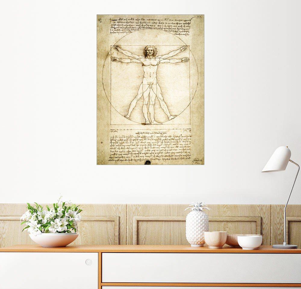 Posterlounge Wandbild - Leonardo da Vinci »Der vitruvianische Mensch«