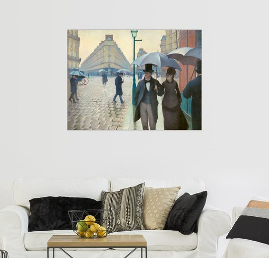 Posterlounge Wandbild - Gustave Caillebotte »Pariser Straße, regnerischer Tag«