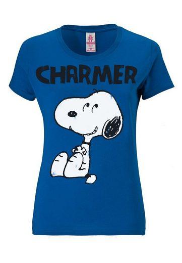 LOGOSHIRT T-Shirt mit niedlichem Snoopy-Druck Snoopy - Peanuts
