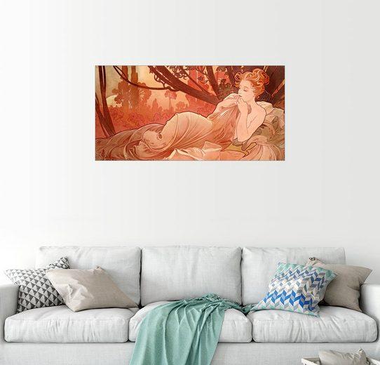Posterlounge Wandbild - Alfons Mucha »Abenddämmerung«