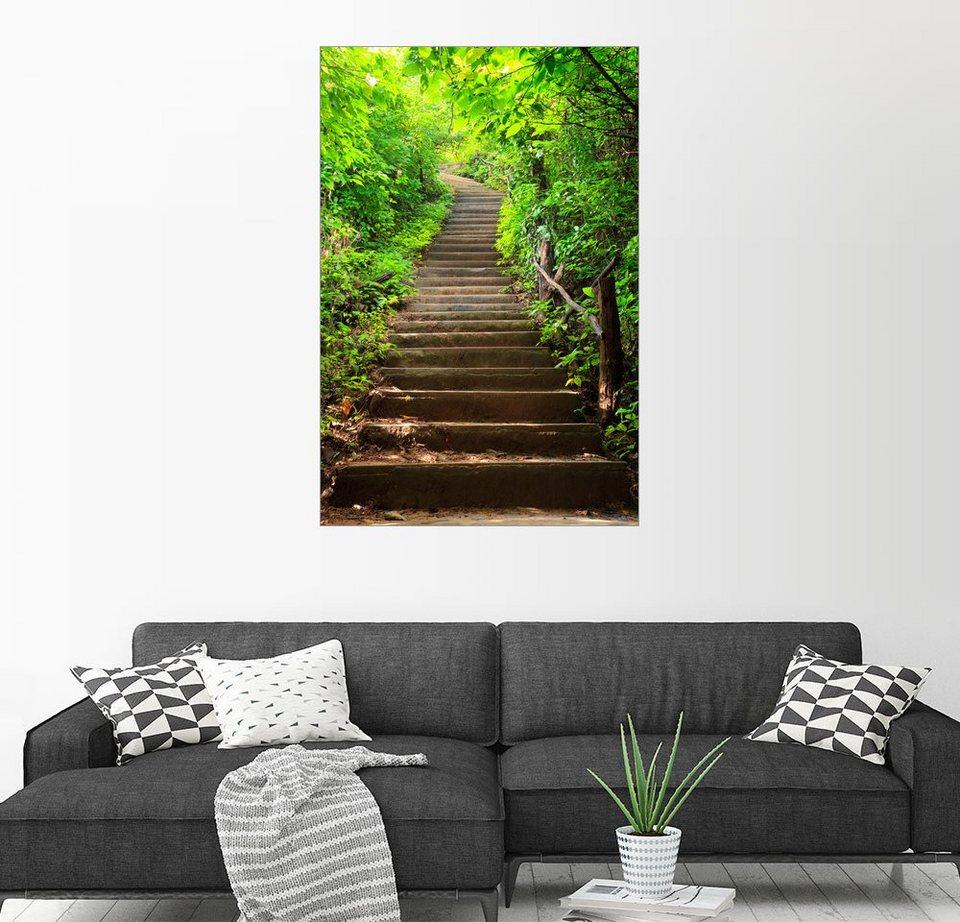 Posterlounge Wandbild »Treppe Zum Wald« Kaufen