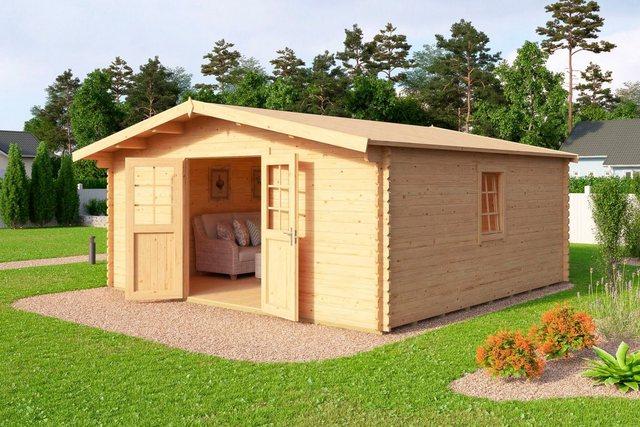 Nordic Holz Set: Blockbohlenhaus Nienstedten 4