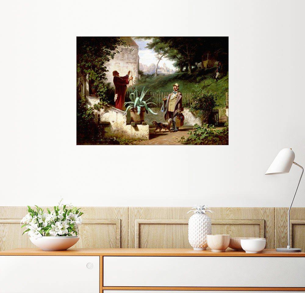 Posterlounge Wandbild - Carl Spitzweg »Die Jugendfreunde« | Dekoration > Bilder und Rahmen > Bilder | Holz | Posterlounge