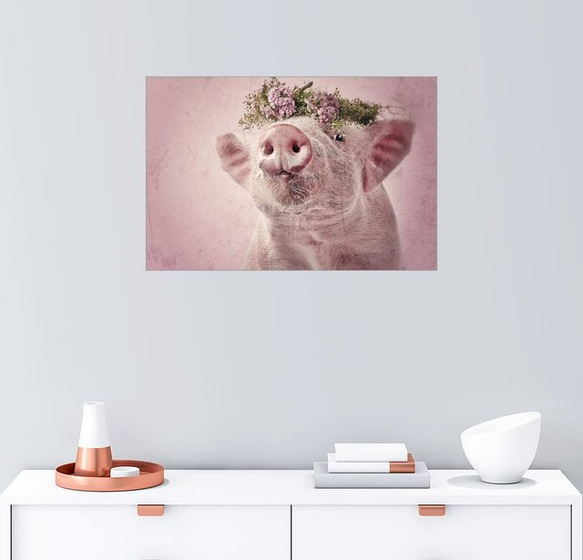 Posterlounge Wandbild - Kathrin Köntopp »Rosalie Sahnenase Vintage« | Dekoration > Bilder und Rahmen > Bilder | Bunt | Posterlounge
