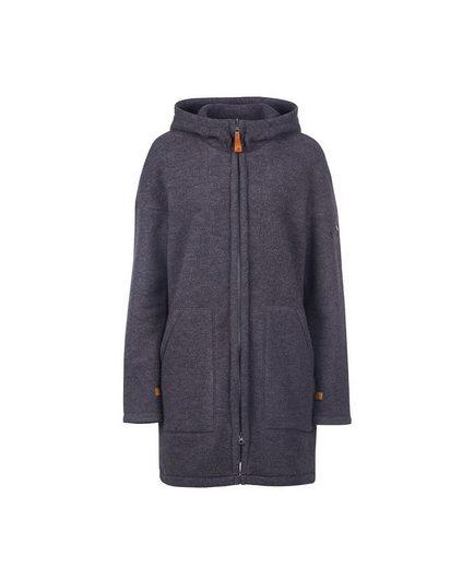 Finside Wollfleece-Mantel mit Kapuze
