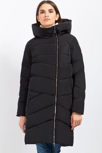 Finn Flare Downy Coat With Diagonal Quilting Pattern
