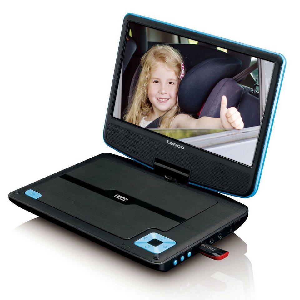 lenco tragbarer 9 dvd spieler mit usb und halterung f rs. Black Bedroom Furniture Sets. Home Design Ideas