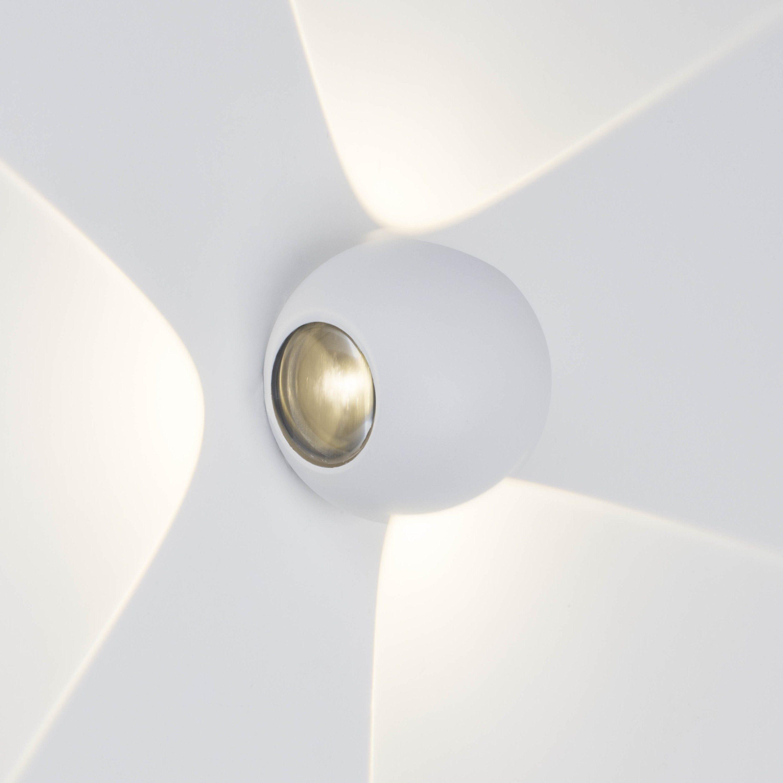 AEG Gus LED Außenwandleuchte, 3-flammig weiß IP54