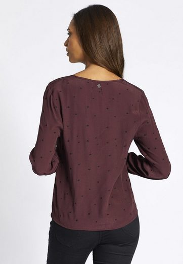 khujo Shirtbluse KAISA, mit Stickereien in Sternenform