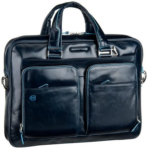 Piquadro Briefcase Blue Square Laptoptasche