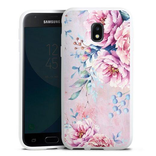 DeinDesign Handyhülle »Watercolour Flower 3« Samsung Galaxy J3 Duos (2017), Hülle Blume Wasserfarbe Sommer