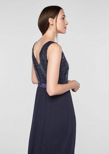 s.Oliver BLACK LABEL Glamouröses Abendkleid mit Pailletten