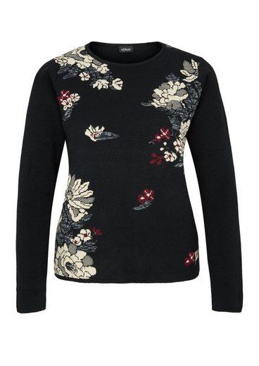 S.oliver, Étiquette Noire, Boxy-pullover, Jacquardmuster