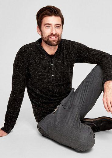 s.Oliver RED LABEL Henley-Shirt in meliertem Design