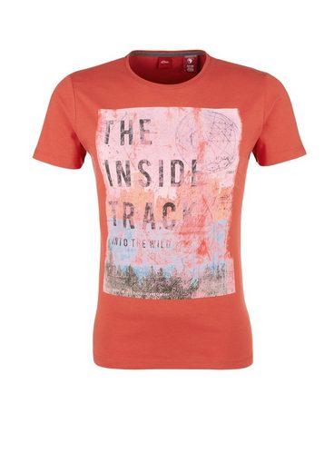 s.Oliver RED LABEL Slim: T-Shirt mit Trash-Print