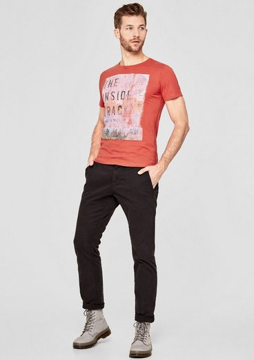 s.Oliver RED LABEL Slim: T-Shirt mit Trash-Print