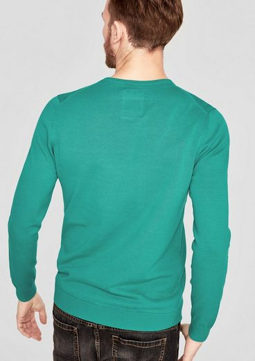 s.Oliver RED LABEL Basic Pullover mit Crew Neck