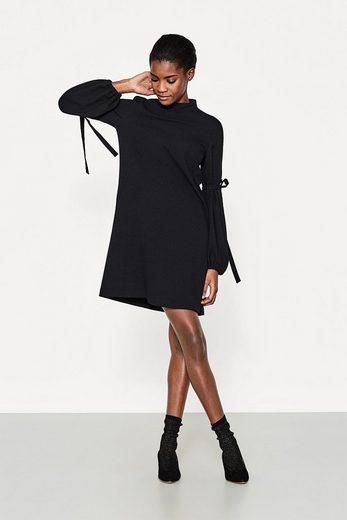ESPRIT Kleid mit Stehbund und Volumenärmeln