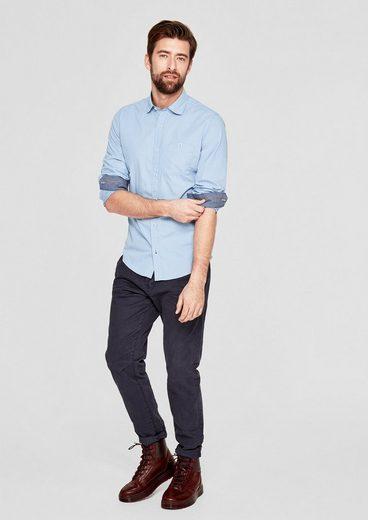 s.Oliver RED LABEL Slim: Hemd mit Denim-Details