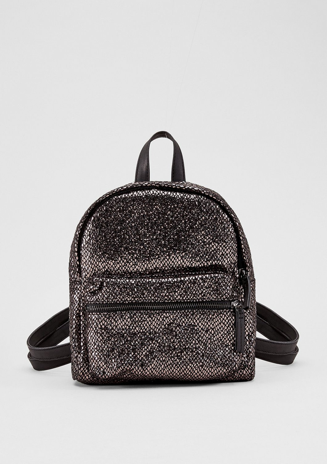s.Oliver RED LABEL Kleiner Rucksack im Metallic-Look