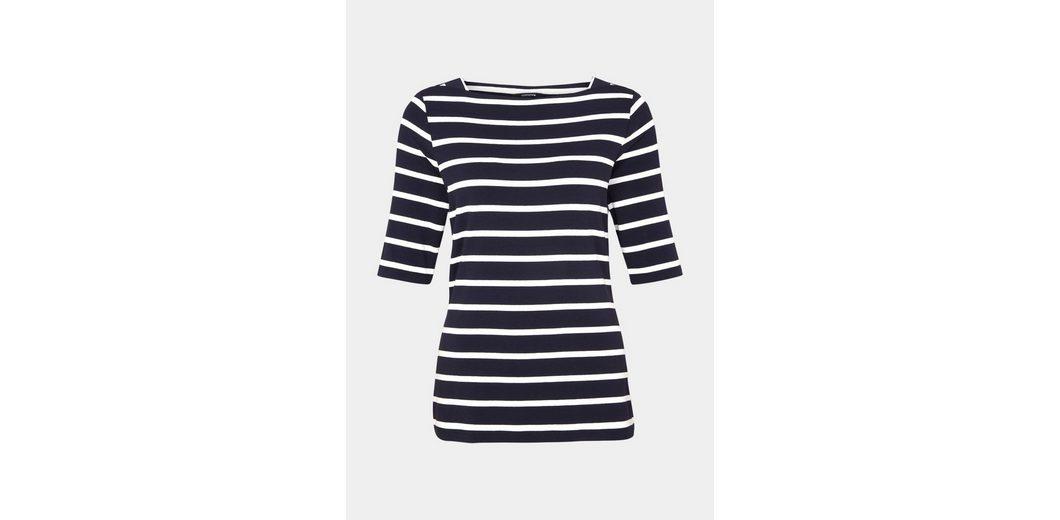 COMMA Jersey-Kurzarmshirt mit aufregendem Allovermuster Großhandel Qualität Niedriger Preis Größte Anbieter Günstiger Preis Mode-Stil Günstiger Preis Für Günstig Online 1kGnM8HH