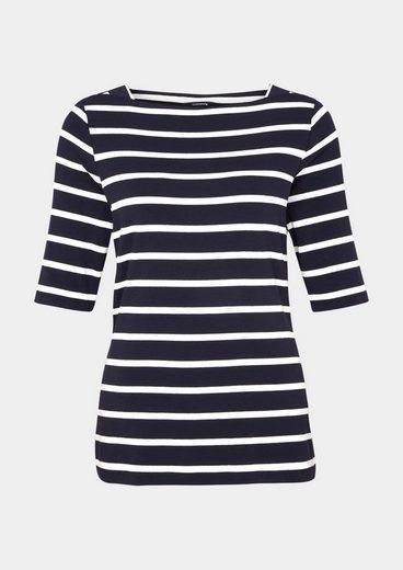 COMMA Jersey-Kurzarmshirt mit aufregendem Allovermuster