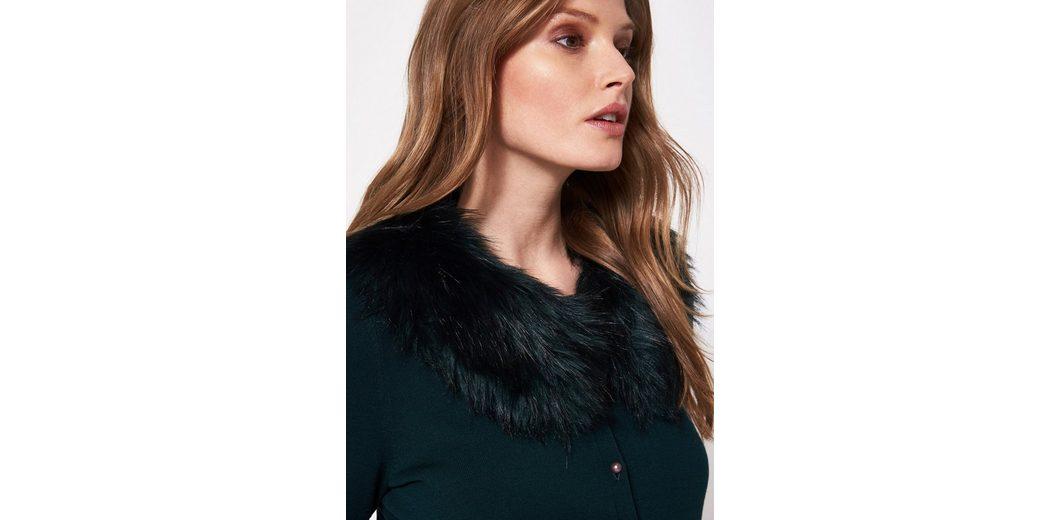 COMMA Kurze Feinstrickjacke mit kuscheligem Fake Fur-Kragen Billig Verkauf Große Überraschung Verkaufen Sind Große Verkauf Empfehlen 2HSYFG