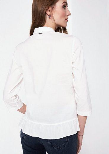 COMMA 3/4-Arm Bluse mit raffinierten Detailarbeiten