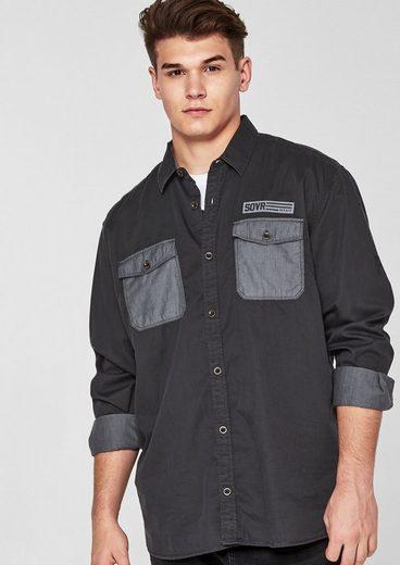s.Oliver RED LABEL Regular: Hemd mit Brusttaschen