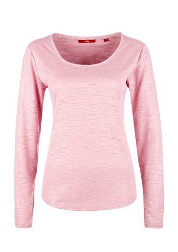 s.Oliver RED LABEL Slub-Yarn-Shirt mit Glitzereffekt