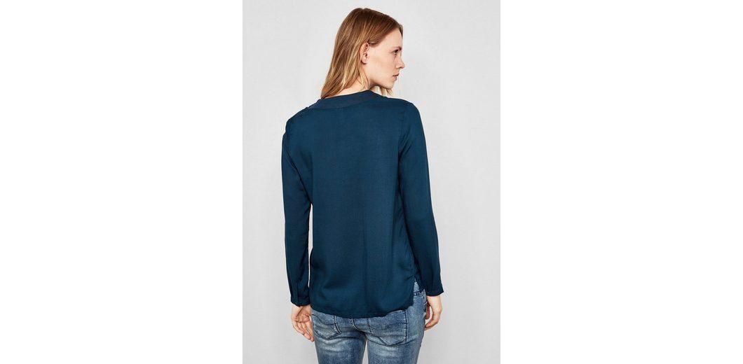 S Jerseykragen Q S Q Bluse Bluse by designed by Jerseykragen designed mit mit Q S 5Hwgg6