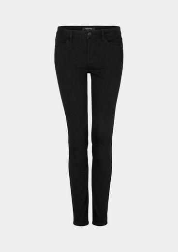 COMMA Black Denim-Jeans mit Nietenverzierungen
