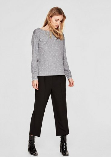 s.Oliver RED LABEL Double Face-Shirt mit Muster