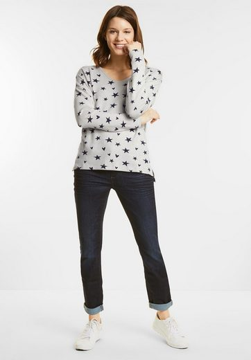 Street One Knit Shirt With V-neck