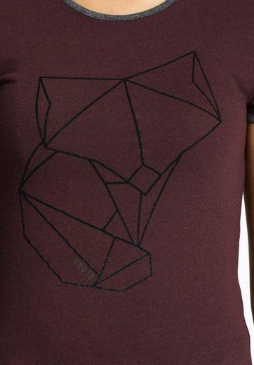 khujo T-Shirt CORDIA, mit haptischem Print auf der Front