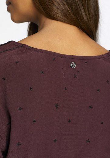 khujo Shirtbluse KAISA, mit Stickereien in Sternenform
