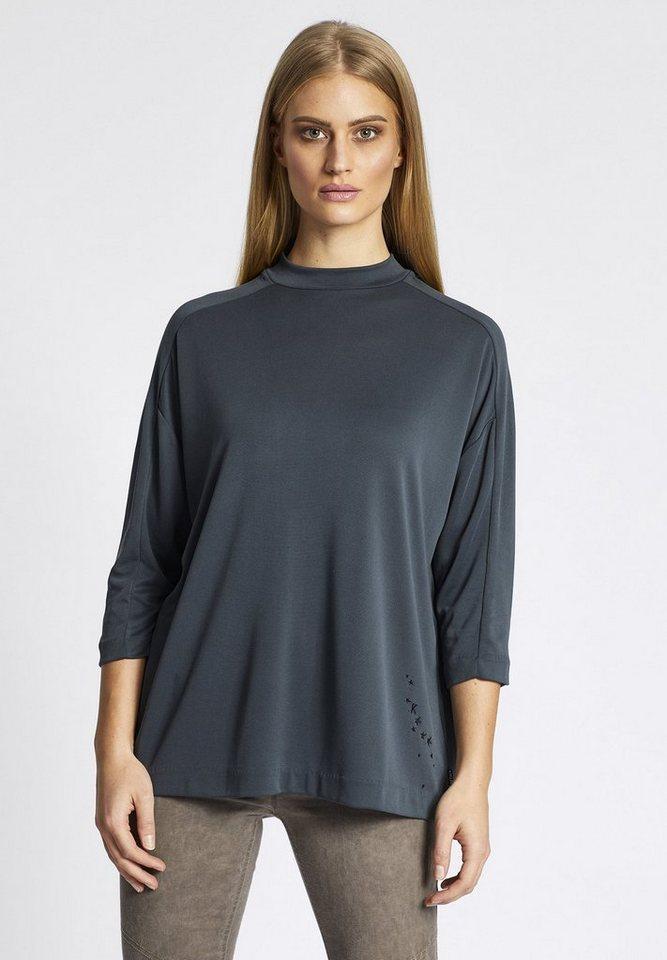 khujo Oversize-Shirt »SHANO« in gläzendem Stretch-Material | Bekleidung > Shirts > Oversize-Shirts | Grün | khujo