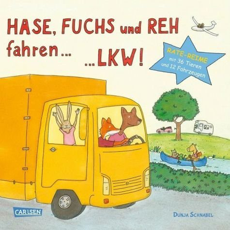 Buch mit Papp-Einband »Hase, Fuchs und Reh fahren ... LKW!«