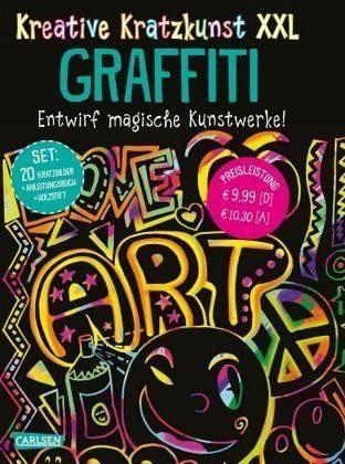 Broschiertes Buch »Kreative Kratzkunst XXL: Graffiti: Set mit 20...«