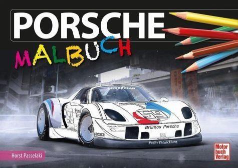 Broschiertes Buch »Porsche-Malbuch«