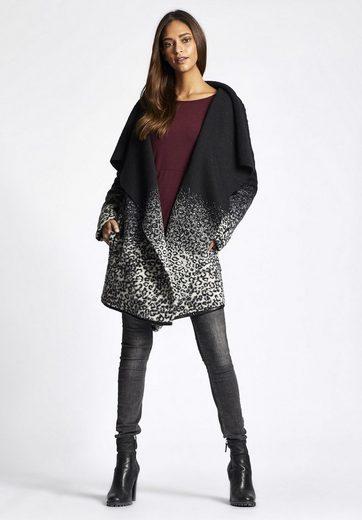 Khujo Wool Coat Kylie, With Waterfall Collar