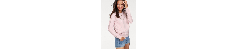 KangaROOS Sweatshirt, mit tonigem Metallic-Druck vorne