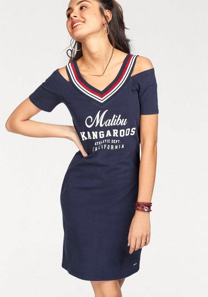 7b408e220795d9 KangaROOS Shirtkleid mit gestreifter Ausschnittkante und Cut Outs auf der  Schulter