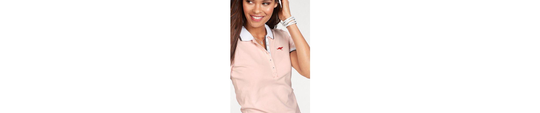 KangaROOS Poloshirt, mit kontrastfarbenem, gestreiftem Polokragen und Ärmelbündchen