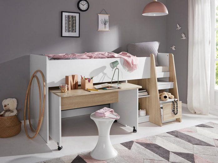 halbhohes bett online kaufen otto. Black Bedroom Furniture Sets. Home Design Ideas