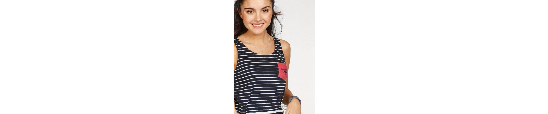 KangaROOS Shirtkleid, im tollen Streifenmuster mit seitlichem Taillen-Bindeband
