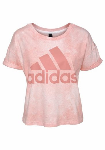 adidas Performance T-Shirt WOMEN ESSENTIAL ALL OVER PRINT TEE